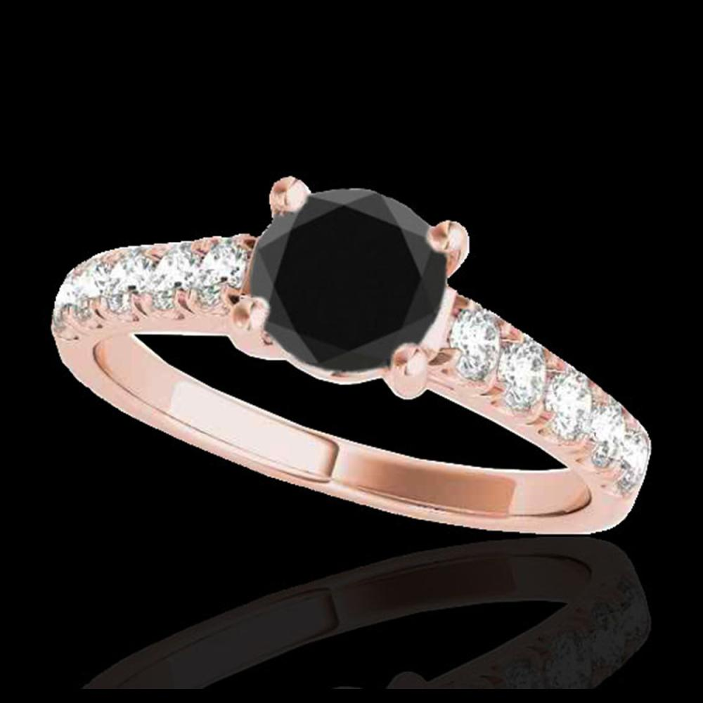 1.55 ctw VS Black Diamond Solitaire Ring 10K Rose Gold - REF-43W8H - SKU:35493