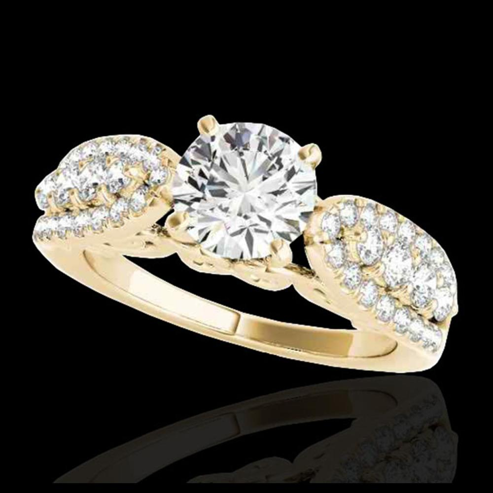 1.70 ctw H-SI/I Diamond Solitaire Ring 10K Yellow Gold - REF-135W2H - SKU:35261