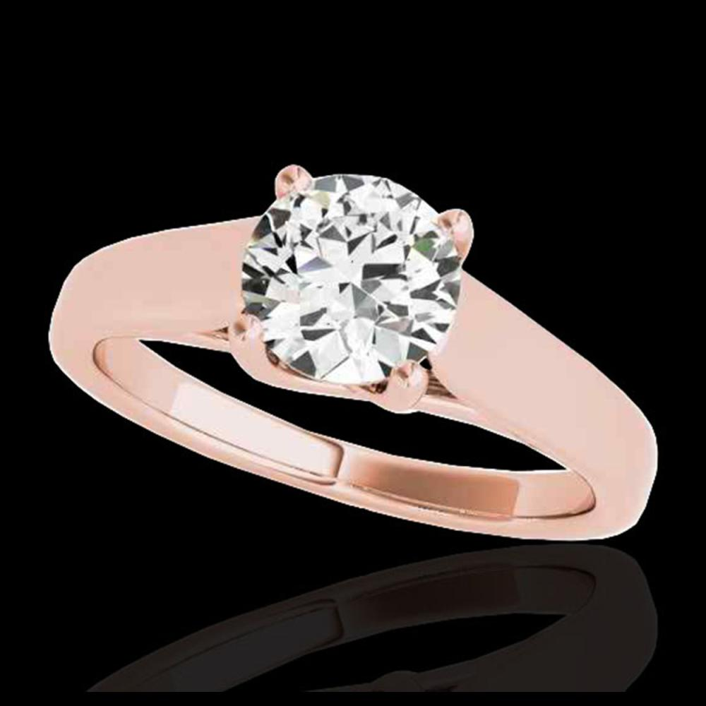 1 ctw H-SI/I Diamond Solitaire Ring 10K Rose Gold - REF-103W6H - SKU:35526