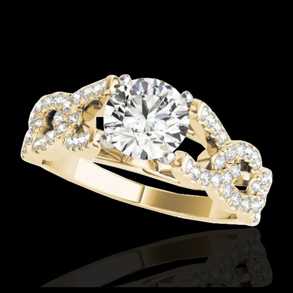 1.50 ctw H-SI/I Diamond Solitaire Ring 10K Yellow Gold - REF-163W6H - SKU:35216