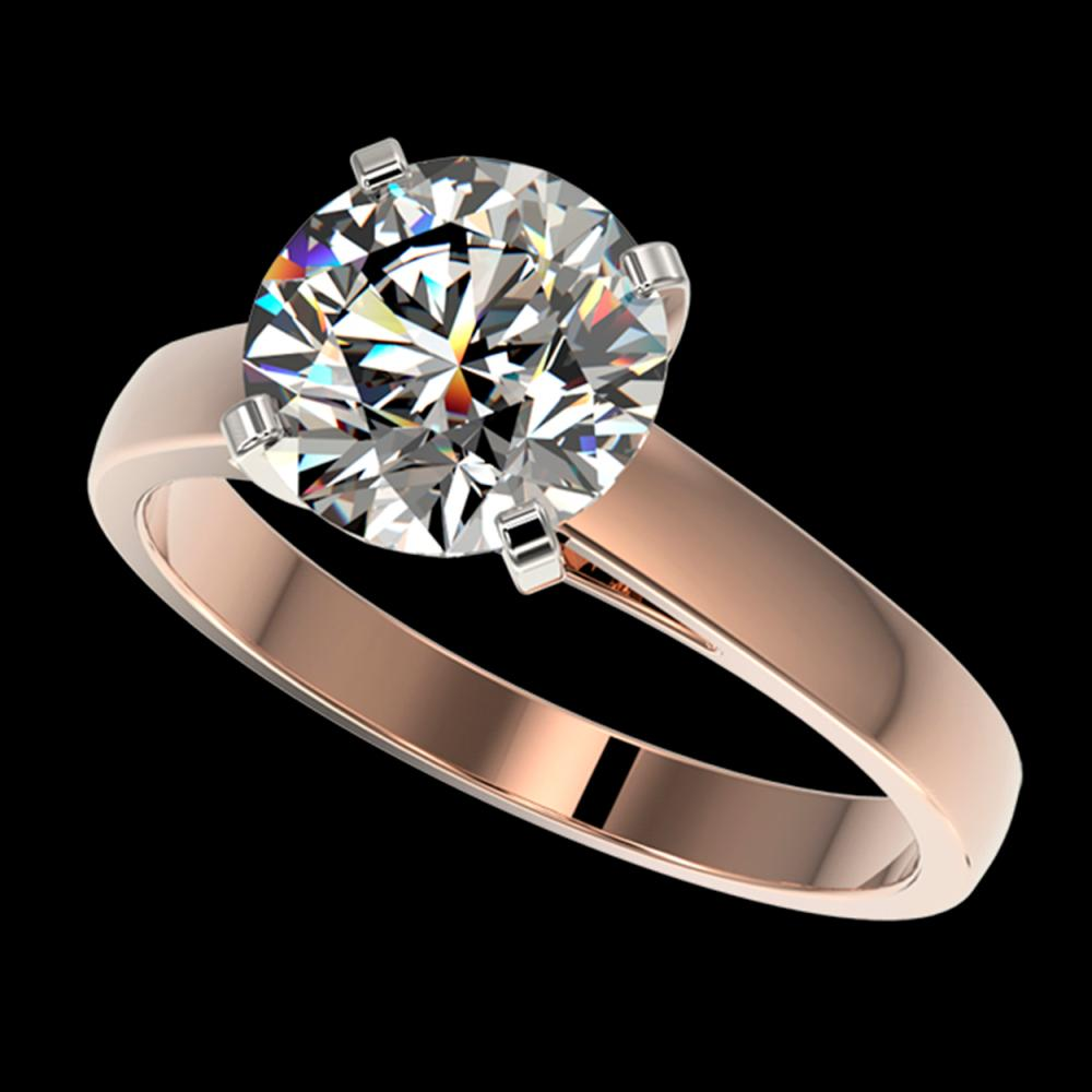 2.50 ctw H-SI/I Diamond Ring 10K Rose Gold - REF-885M2F - SKU:33040
