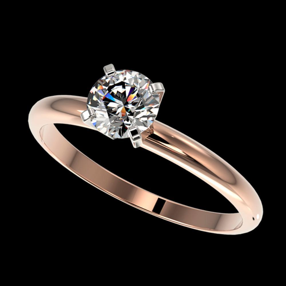 0.75 ctw H-SI/I Diamond Ring 10K Rose Gold - REF-97R5K - SKU:32875