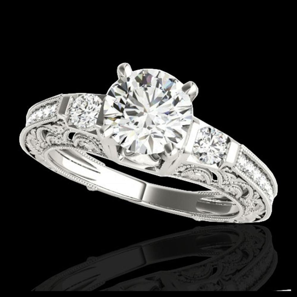 1.63 ctw H-SI/I Diamond Solitaire Ring 10K White Gold - REF-163W6H - SKU:34648