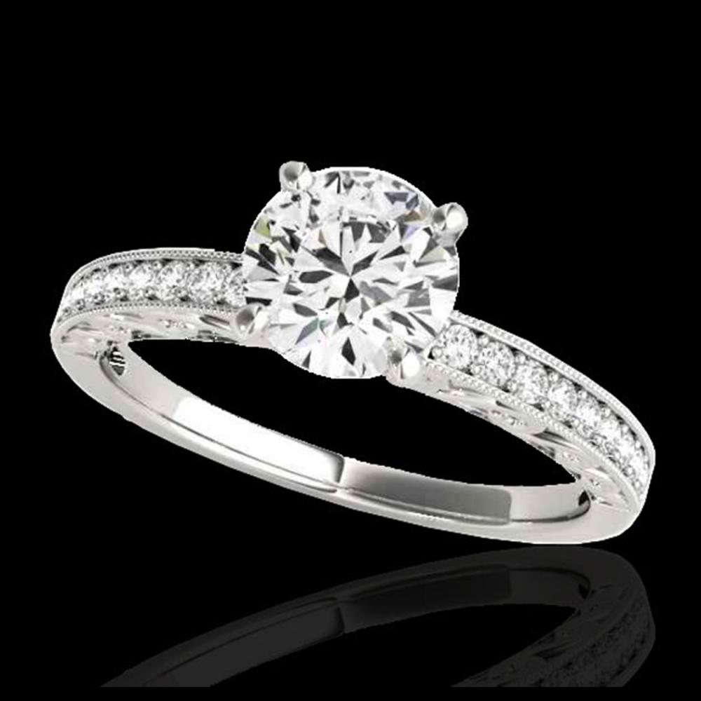 1.43 ctw H-SI/I Diamond Solitaire Ring 10K White Gold - REF-229F3N - SKU:34612