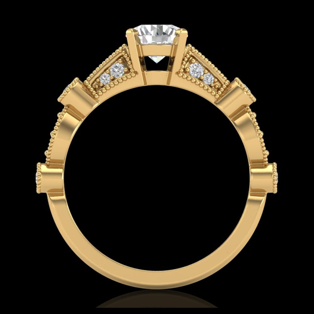 1.03 ctw VS/SI Diamond Solitaire Art Deco Ring 18K Yellow Gold - REF-203R6K - SKU:36973