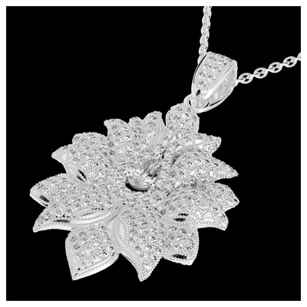 3 ctw VS/SI Diamond Necklace 18K White Gold - REF-429X5R - SKU:22558