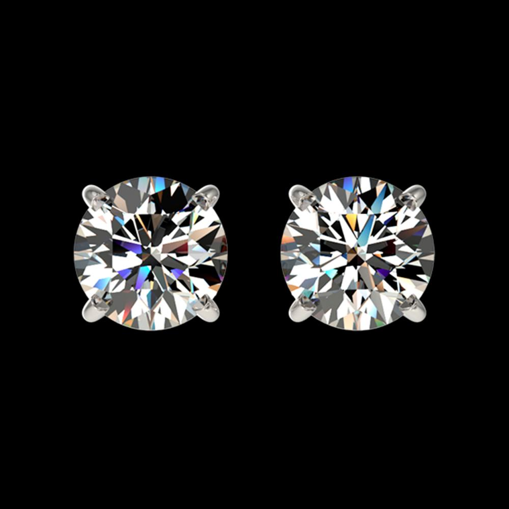 1.11 ctw H-SI/I Diamond Stud Earrings 10K White Gold - REF-103F5N - SKU:36581