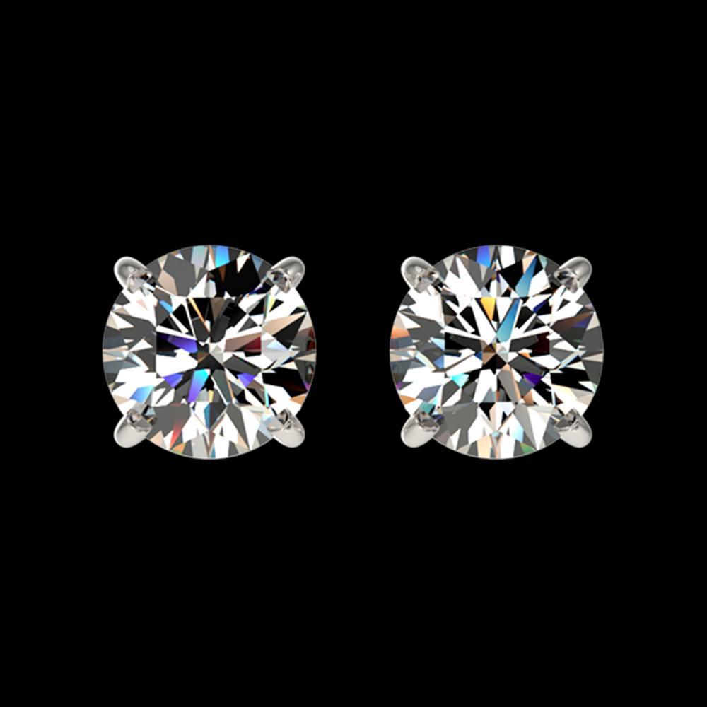 1.04 ctw H-SI/I Diamond Stud Earrings 10K White Gold - REF-103K5W - SKU:36572