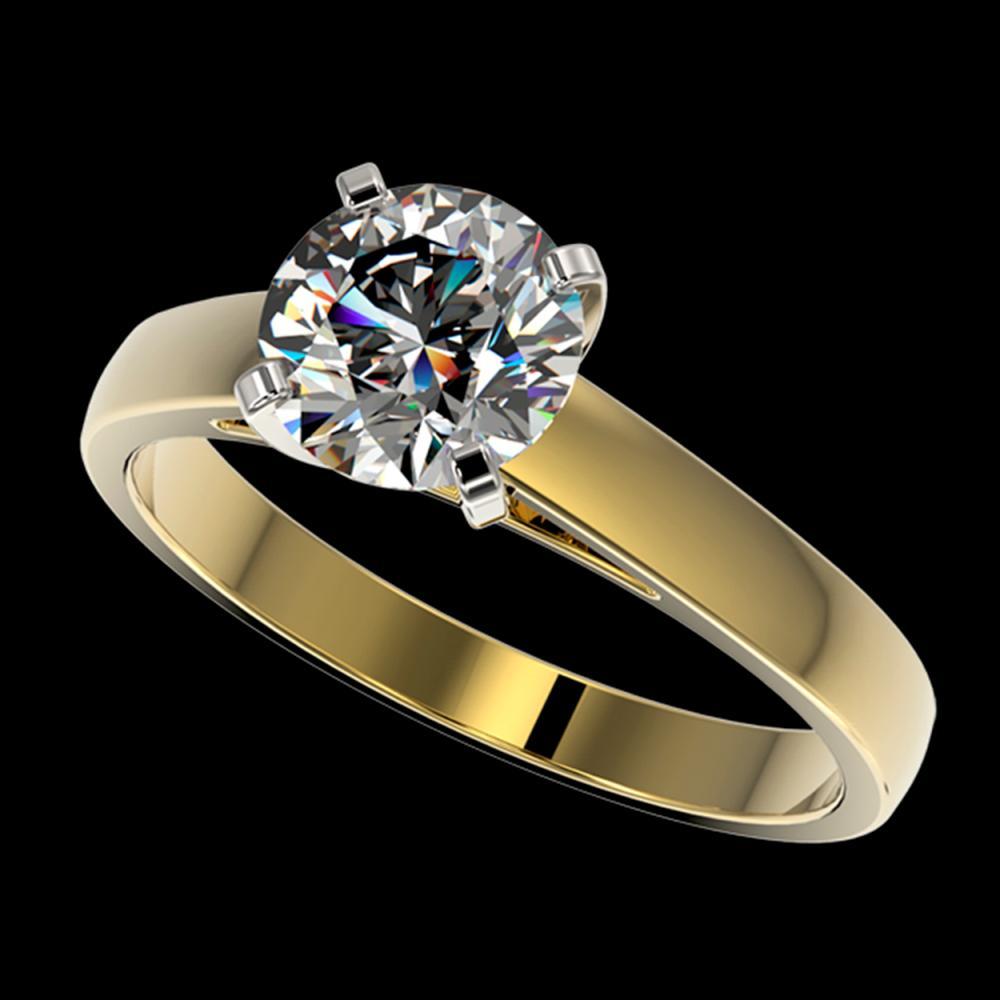 1.55 ctw H-SI/I Diamond Ring 10K Yellow Gold - REF-339F2N - SKU:36547