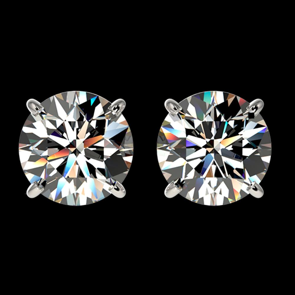 2.07 ctw Certified Quality Diamond Stud Earrings 10k White Gold - REF-256F3M