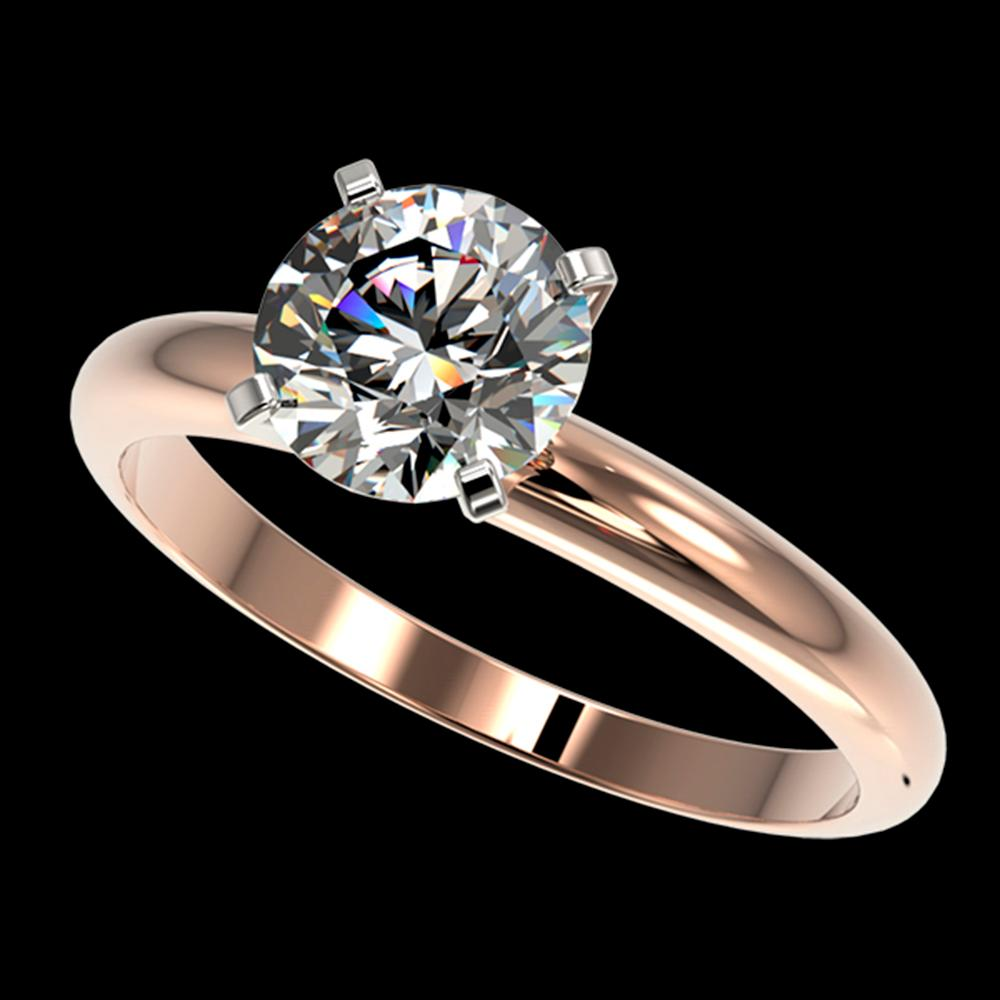 1.57 ctw Certified Quality Diamond Engagment Ring 10k Rose Gold - REF-271Y8X