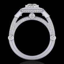 3 CTW Princess VS/SI Diamond Solitaire Art Deco 3 Stone Ring 18K Gold - REF-563X6Y - 37133