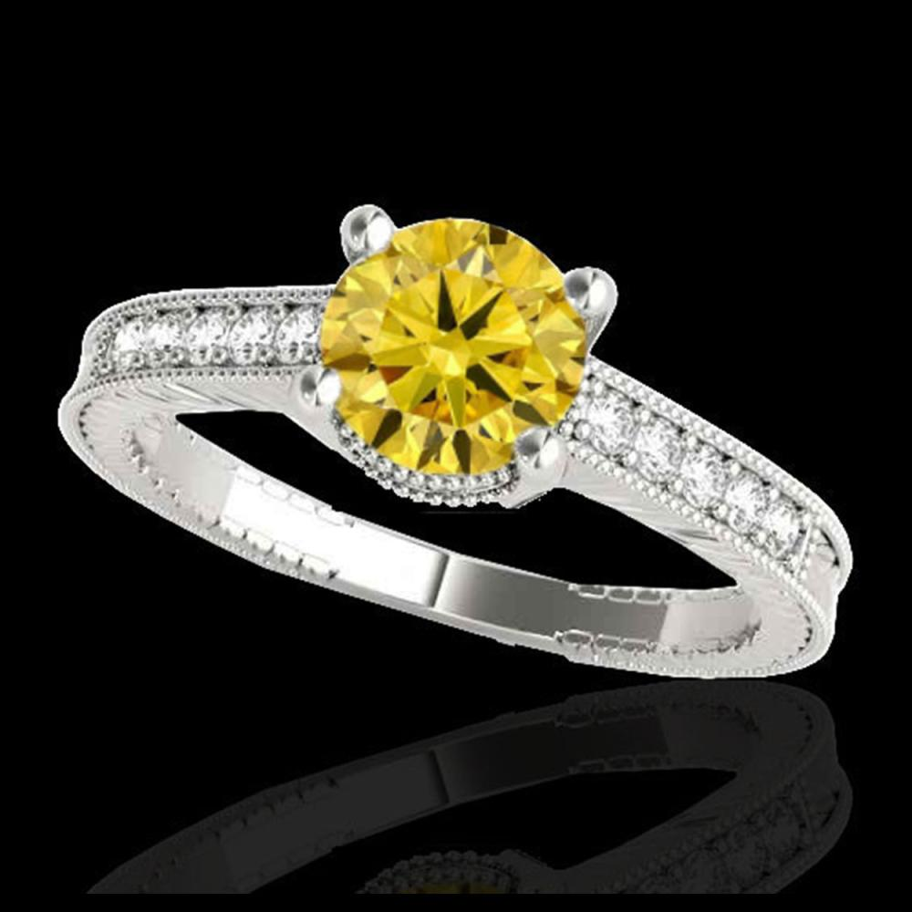 1.75 ctw SI Intense Yellow Diamond Ring 10K White Gold - REF-289F8N - SKU:34772
