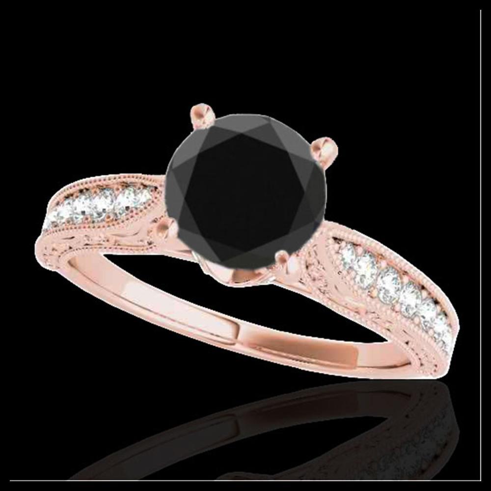 Lot 3003: 1.50 ctw VS Black Diamond Solitaire Ring 10K Rose Gold - REF-39V5Y - SKU:34733