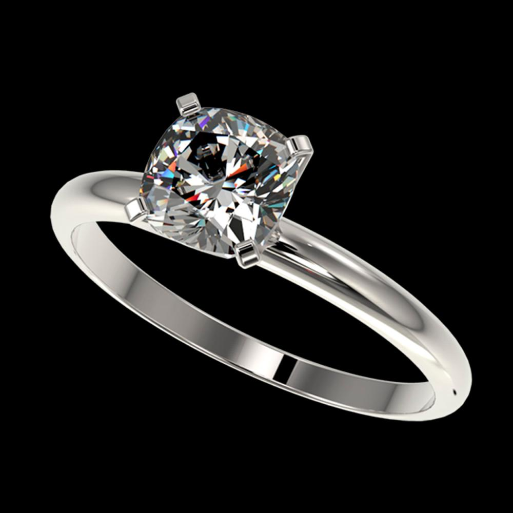 1 ctw VS/SI Cushion Cut Diamond Ring 10K White Gold - REF-297H2M - SKU:32900