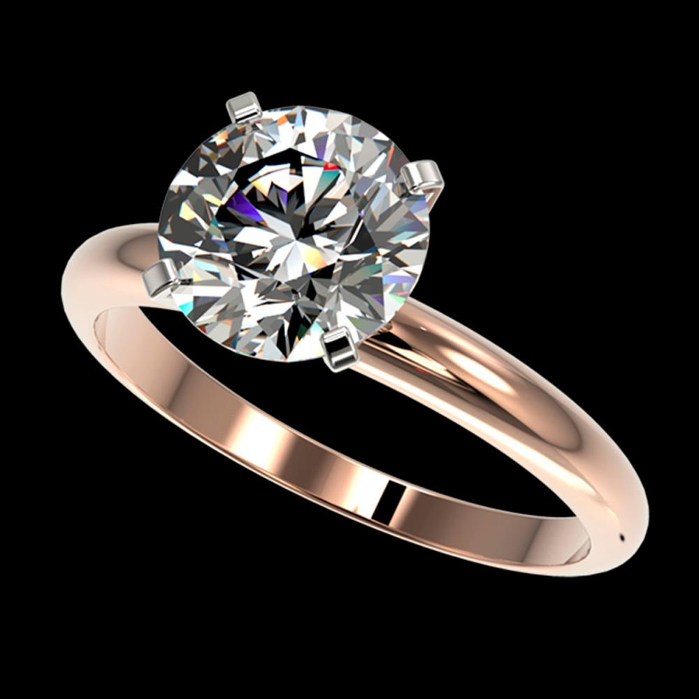 2.50 ctw H-SI/I Diamond Ring 10K Rose Gold - REF-870A2V - SKU:32943