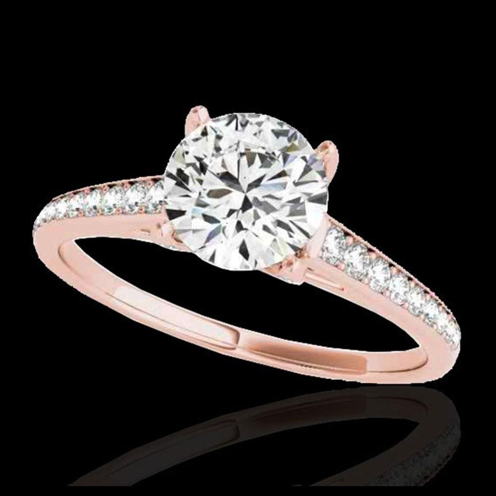 2 ctw H-SI/I Diamond Solitaire Ring 10K Rose Gold - REF-320R5K - SKU:34854