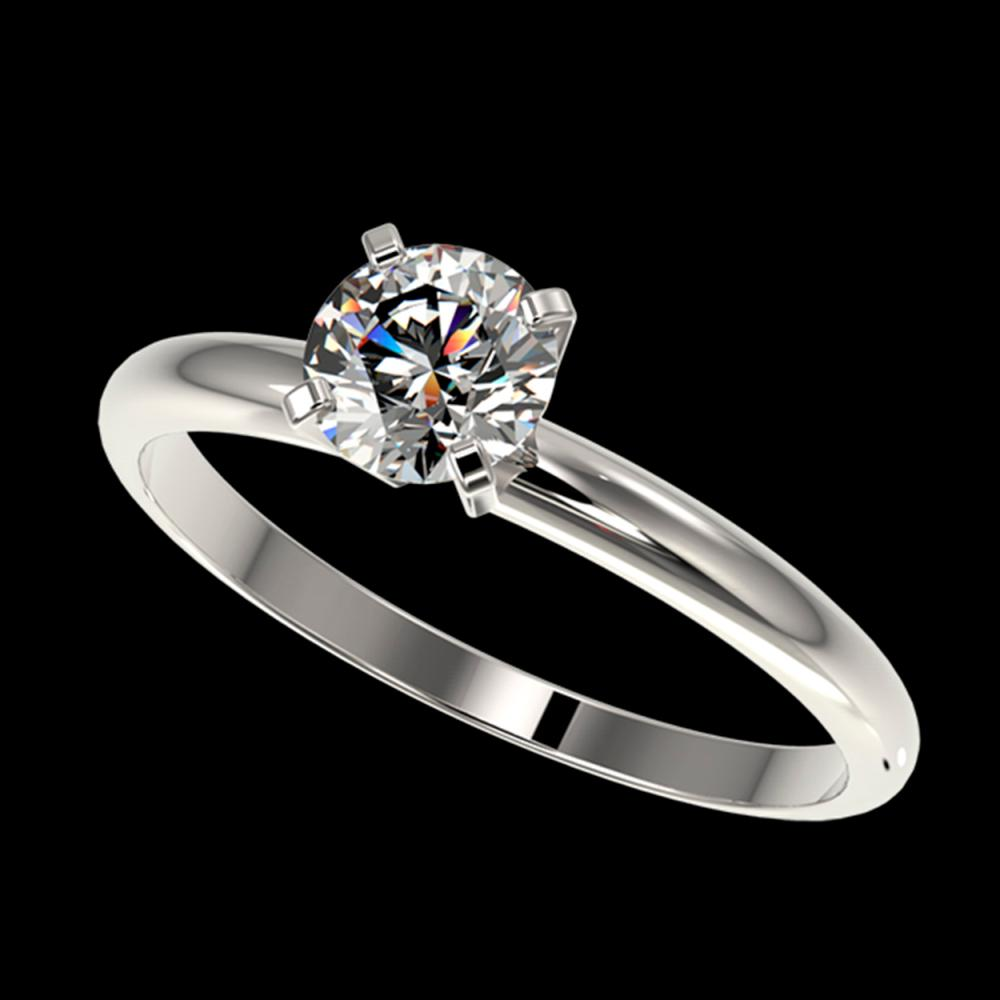 0.78 ctw H-SI/I Diamond Ring 10K White Gold - REF-97X5R - SKU:36388