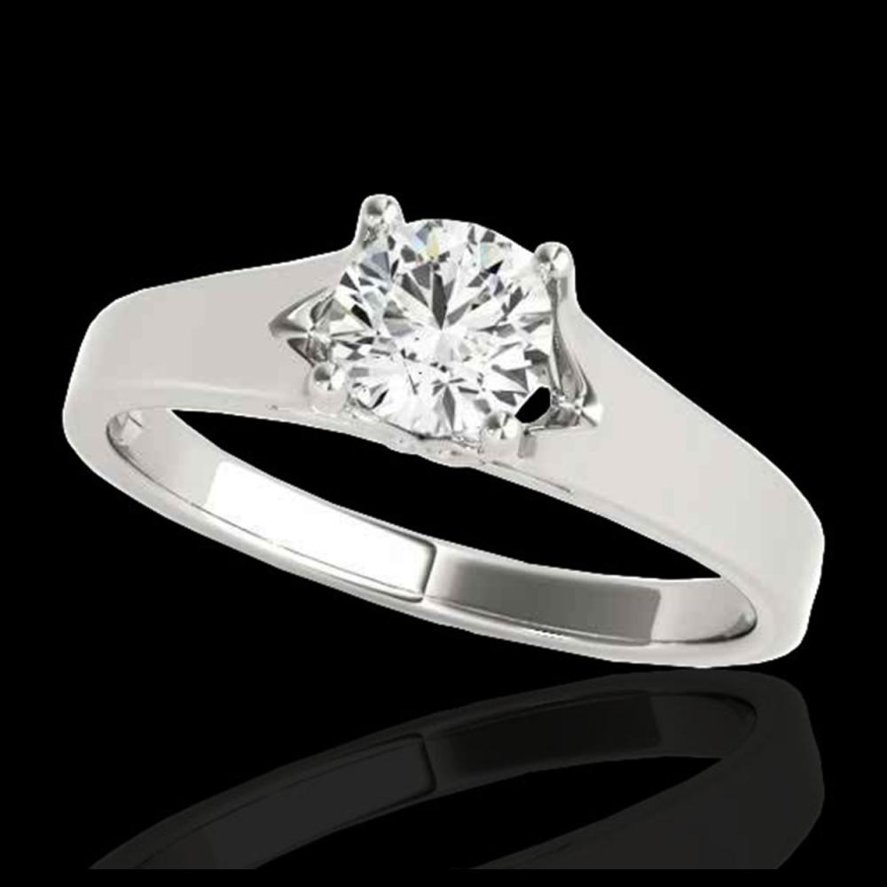 1 ctw H-SI/I Diamond Solitaire Ring 10K White Gold - REF-184Y3X - SKU:35155