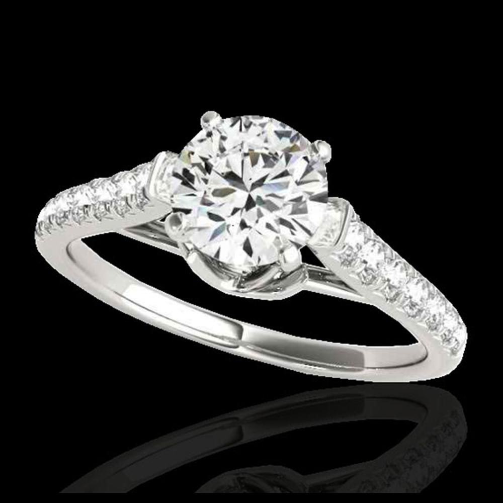 1.46 ctw H-SI/I Diamond Solitaire Ring 10K White Gold - REF-182R7K - SKU:34961