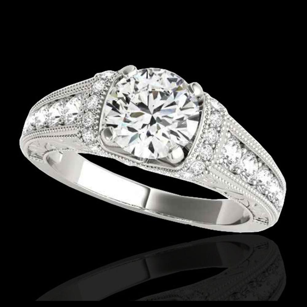 1.75 ctw H-SI/I Diamond Solitaire Ring 10K White Gold - REF-259W3H - SKU:34783