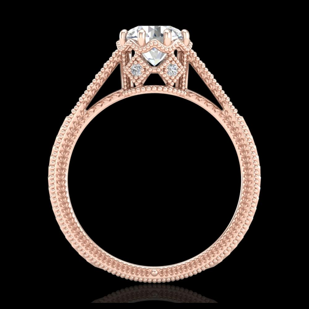1.25 ctw VS/SI Diamond Solitaire Art Deco Ring 18K Rose Gold - REF-330A2V - SKU:36906