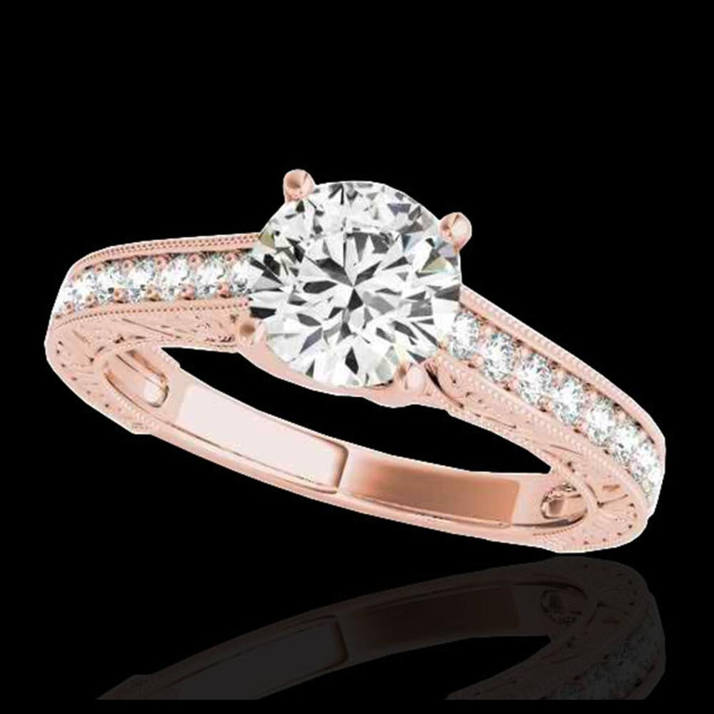 1.32 ctw H-SI/I Diamond Solitaire Ring 10K Rose Gold - REF-184R3K - SKU:34944