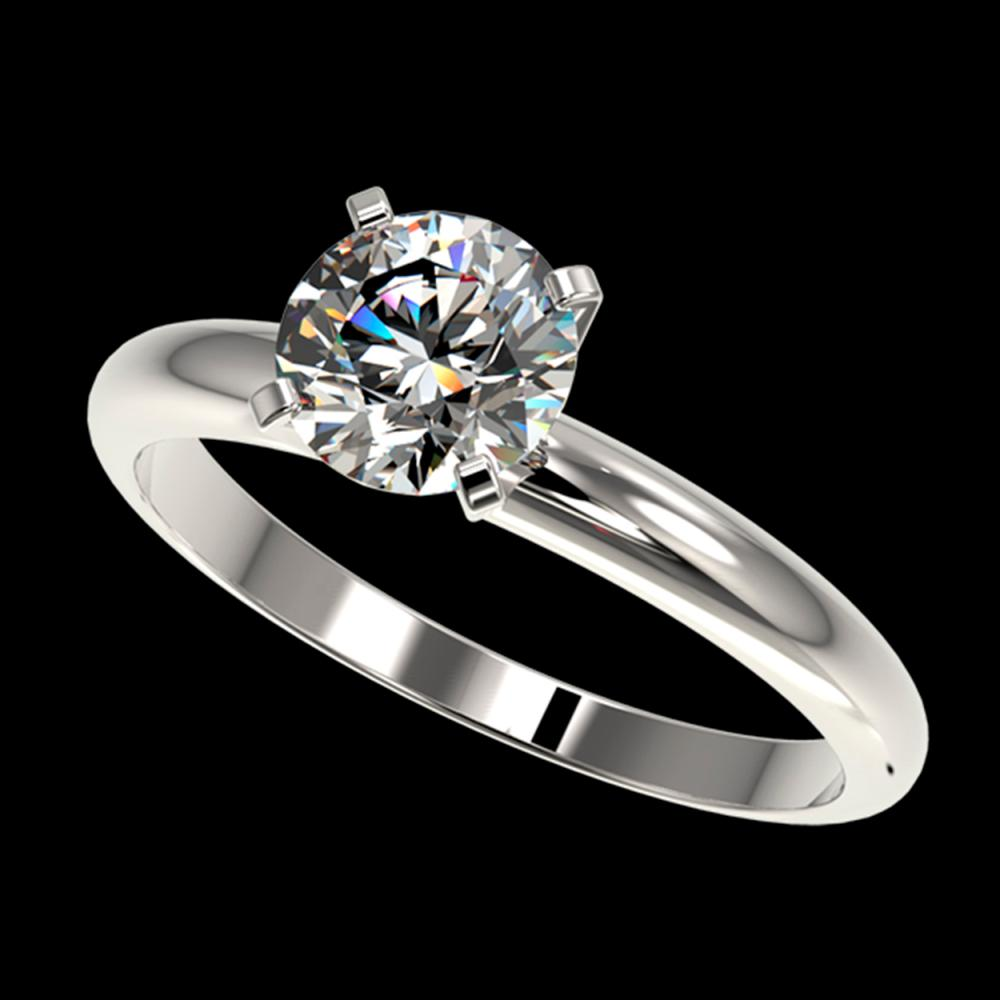 1.27 ctw H-SI/I Diamond Ring 10K White Gold - REF-240A2V - SKU:36423
