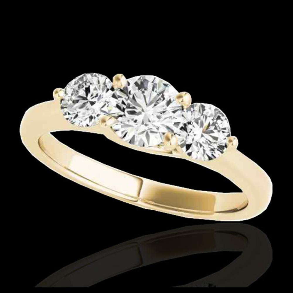 2 ctw H-SI/I Diamond 3 Stone Solitaire Ring 10K Yellow Gold - REF-300K2W - SKU:35387