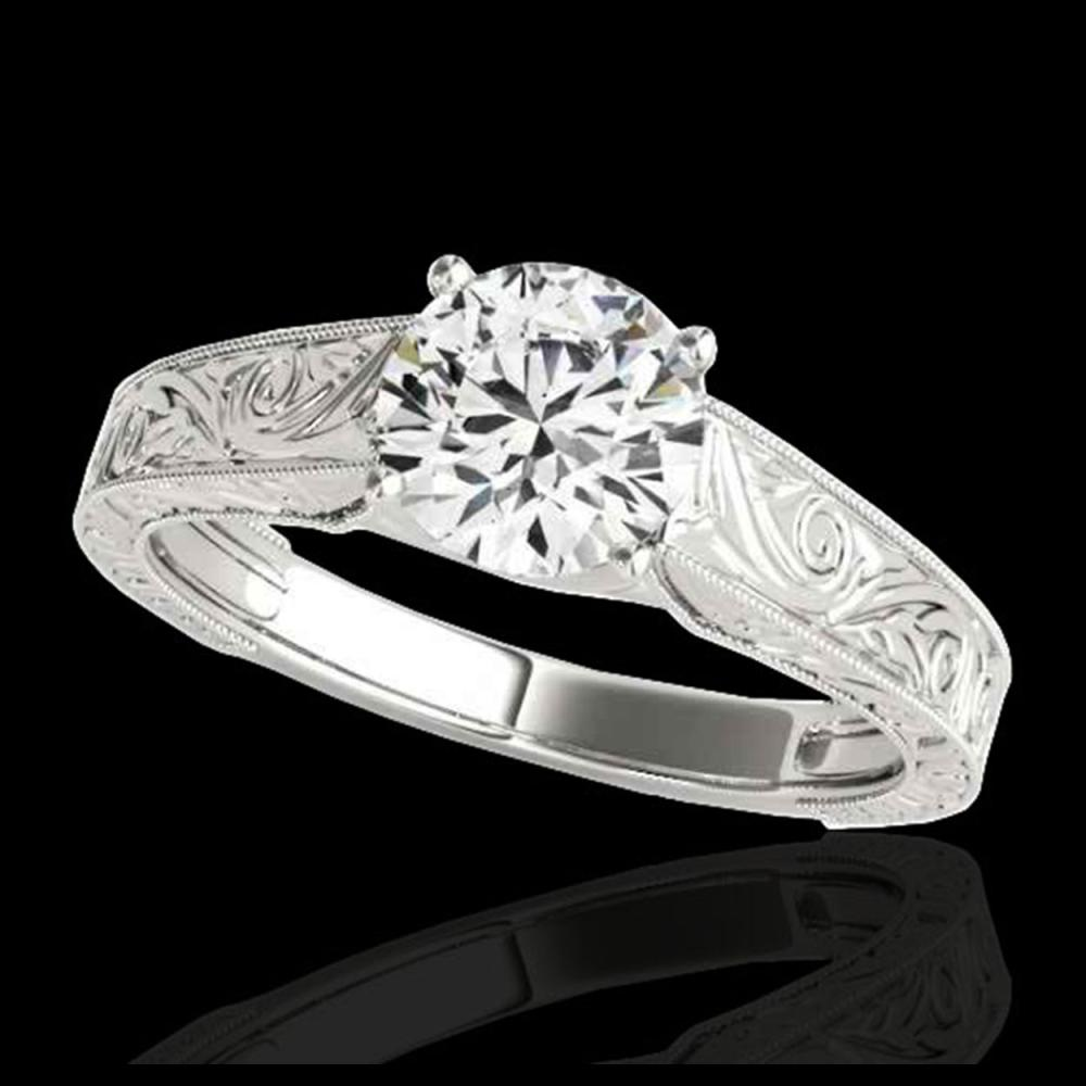 1 ctw H-SI/I Diamond Solitaire Ring 10K White Gold - REF-114R5K - SKU:35182