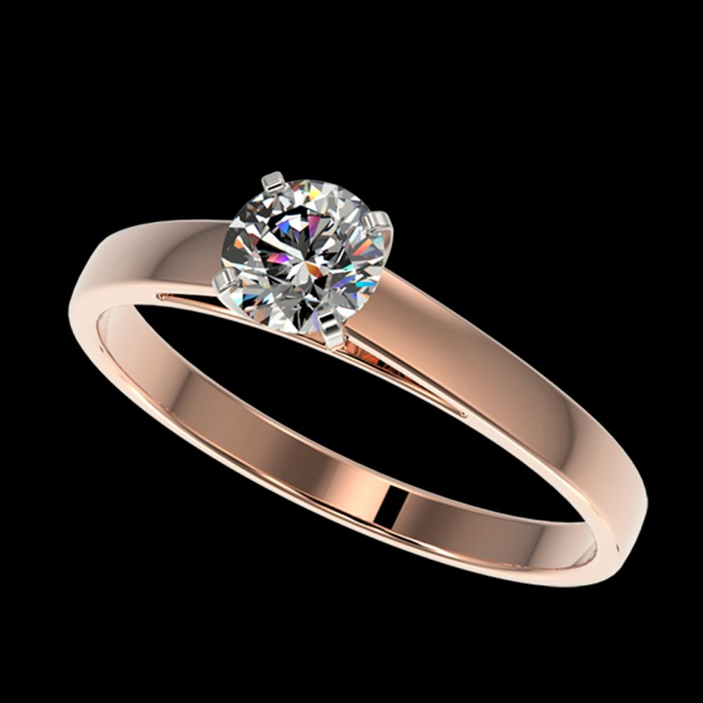0.51 ctw H-SI/I Diamond Ring 10K Rose Gold - REF-54W2H - SKU:36459
