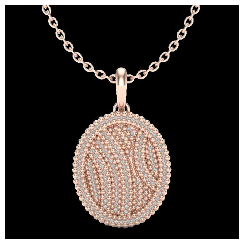 1 ctw VS/SI Diamond Necklace 14K Rose Gold - REF-90M9F - SKU:20508