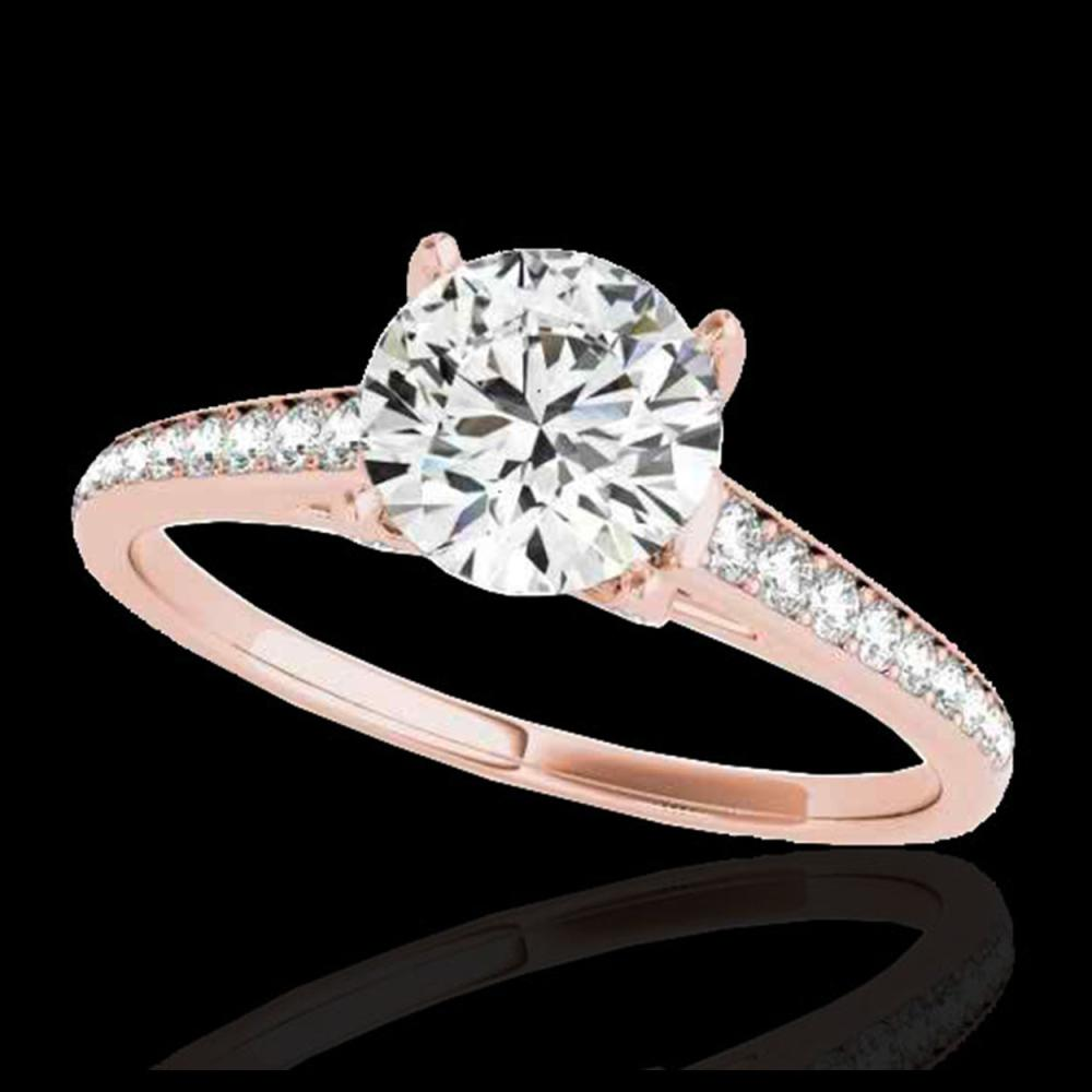 1.50 ctw H-SI/I Diamond Solitaire Ring 10K Rose Gold - REF-160Y5X - SKU:34845