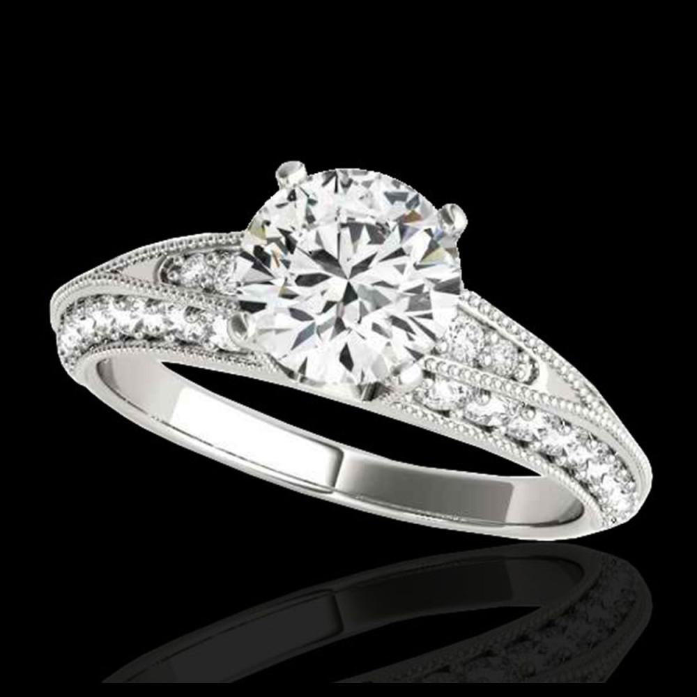1.58 ctw H-SI/I Diamond Solitaire Ring 10K White Gold - REF-129V5Y - SKU:34621