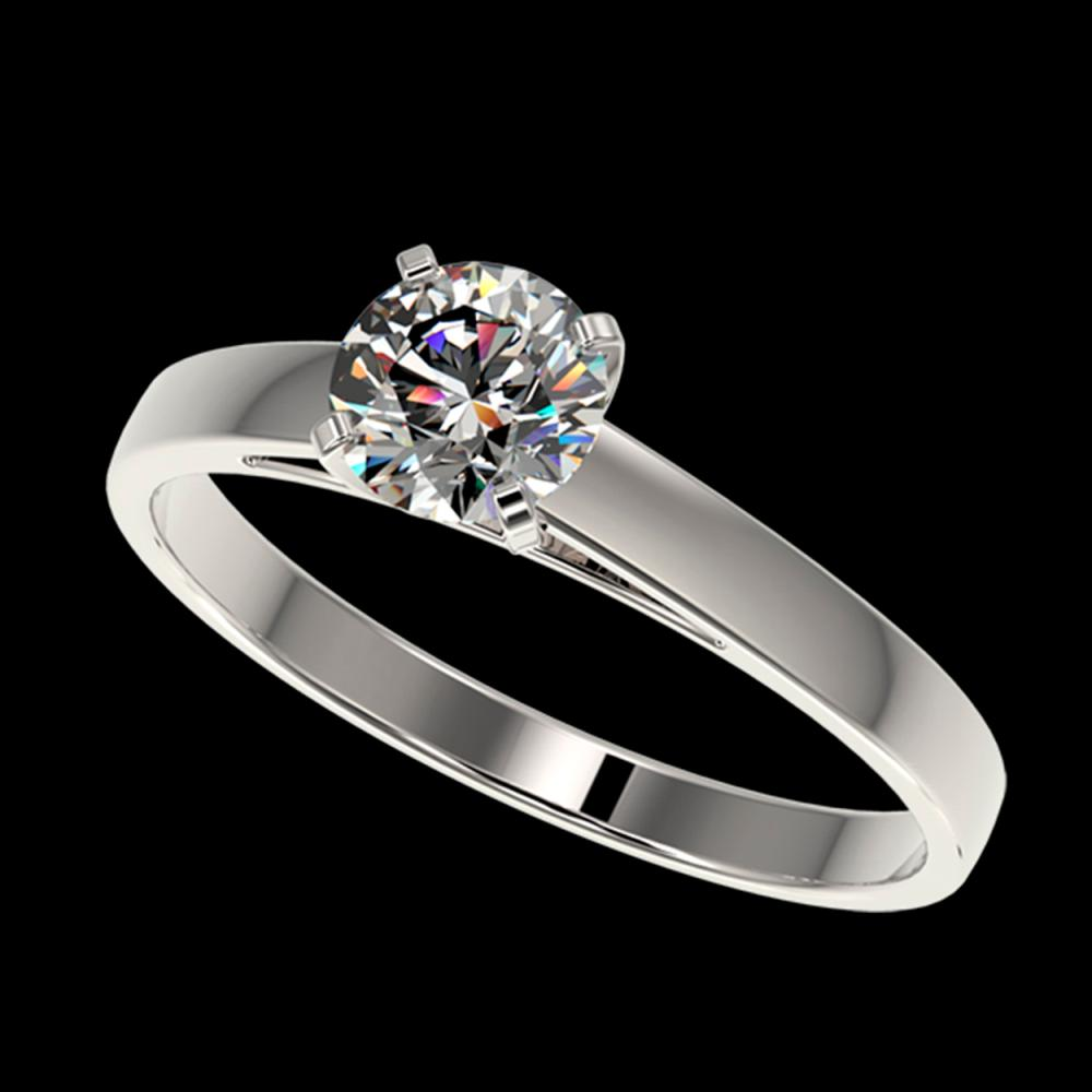0.75 ctw H-SI/I Diamond Ring 10K White Gold - REF-97M5F - SKU:32971