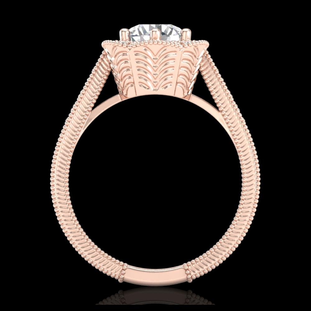 1.33 ctw VS/SI Diamond Solitaire Art Deco Ring 18K Rose Gold - REF-418K2W - SKU:37104