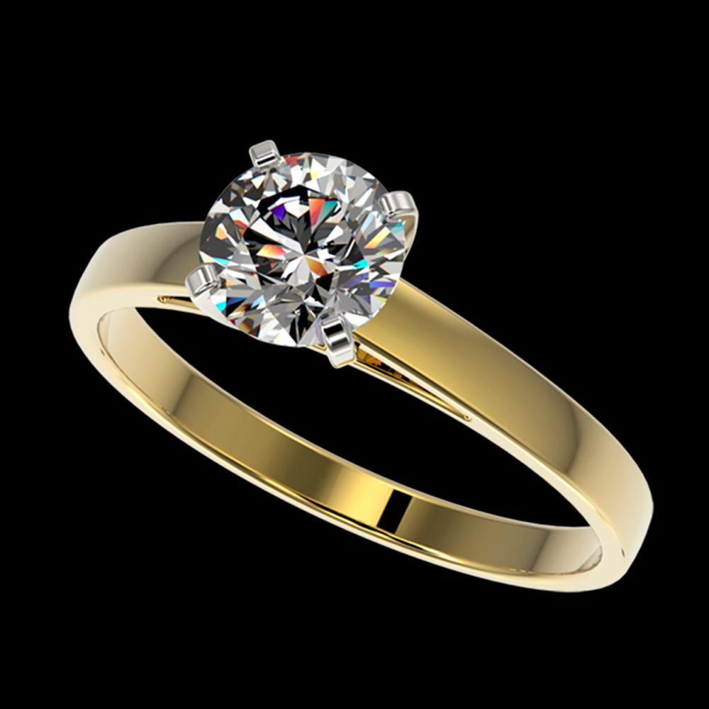 1 ctw H-SI/I Diamond Ring 10K Yellow Gold - REF-199F5N - SKU:32983