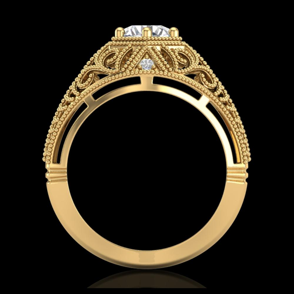 1.07 ctw VS/SI Diamond Solitaire Art Deco Ring 18K Yellow Gold - REF-322A5V - SKU:36919