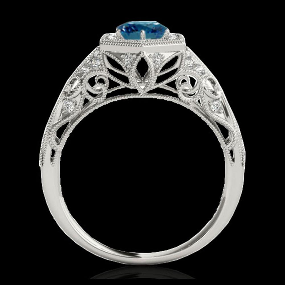 Lot 3020: 1.40 ctw SI Fancy Blue Diamond Ring 10K White Gold - REF-150H2M - SKU:34180