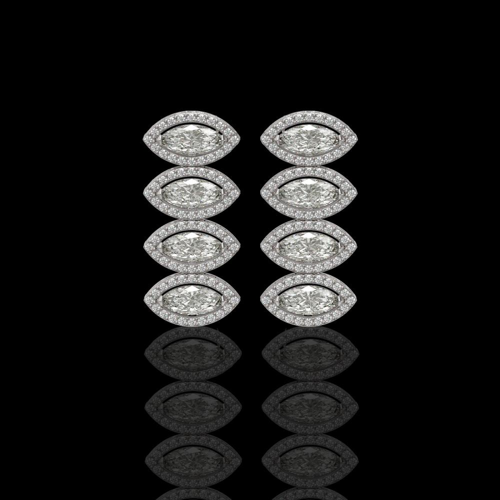 5.33 ctw Marquise Diamond Earrings 18K White Gold - REF-739Y6X - SKU:42782
