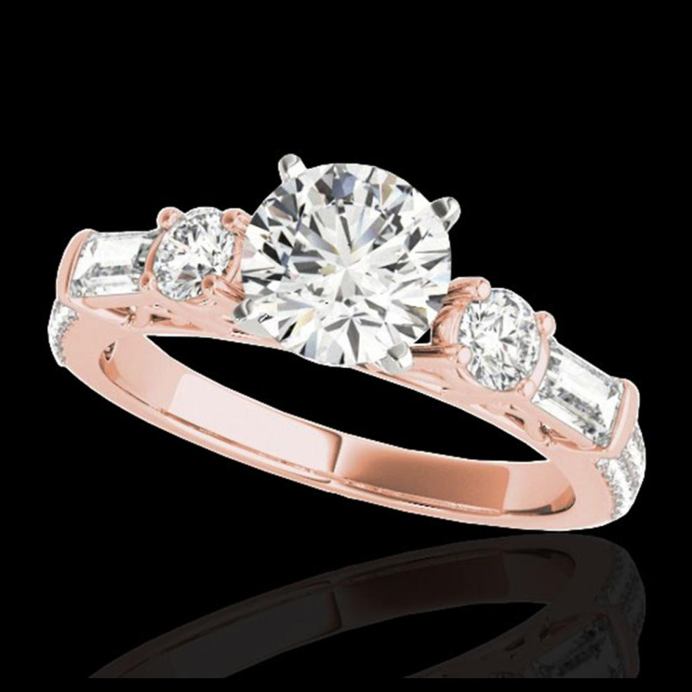 2.5 ctw H-SI/I Diamond Solitaire Ring 10K Rose Gold - REF-308X6R - SKU:35481