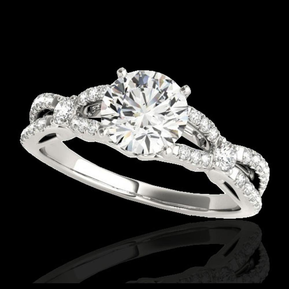 1.35 ctw H-SI/I Diamond Solitaire Ring 10K White Gold - REF-190X9R - SKU:35223