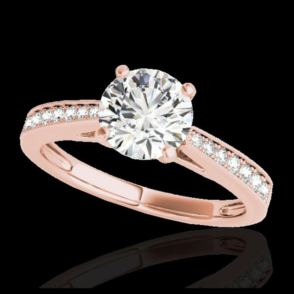 1.25 ctw H-SI/I Diamond Solitaire Ring 10K Rose Gold - REF-188H2M - SKU:35006