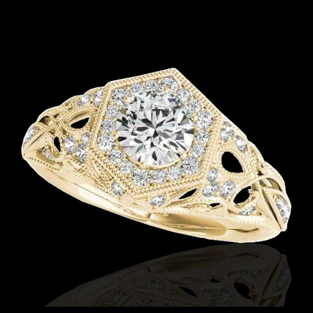 1.40 ctw H-SI/I Diamond Solitaire Ring 10K Yellow Gold - REF-203M2F - SKU:34177