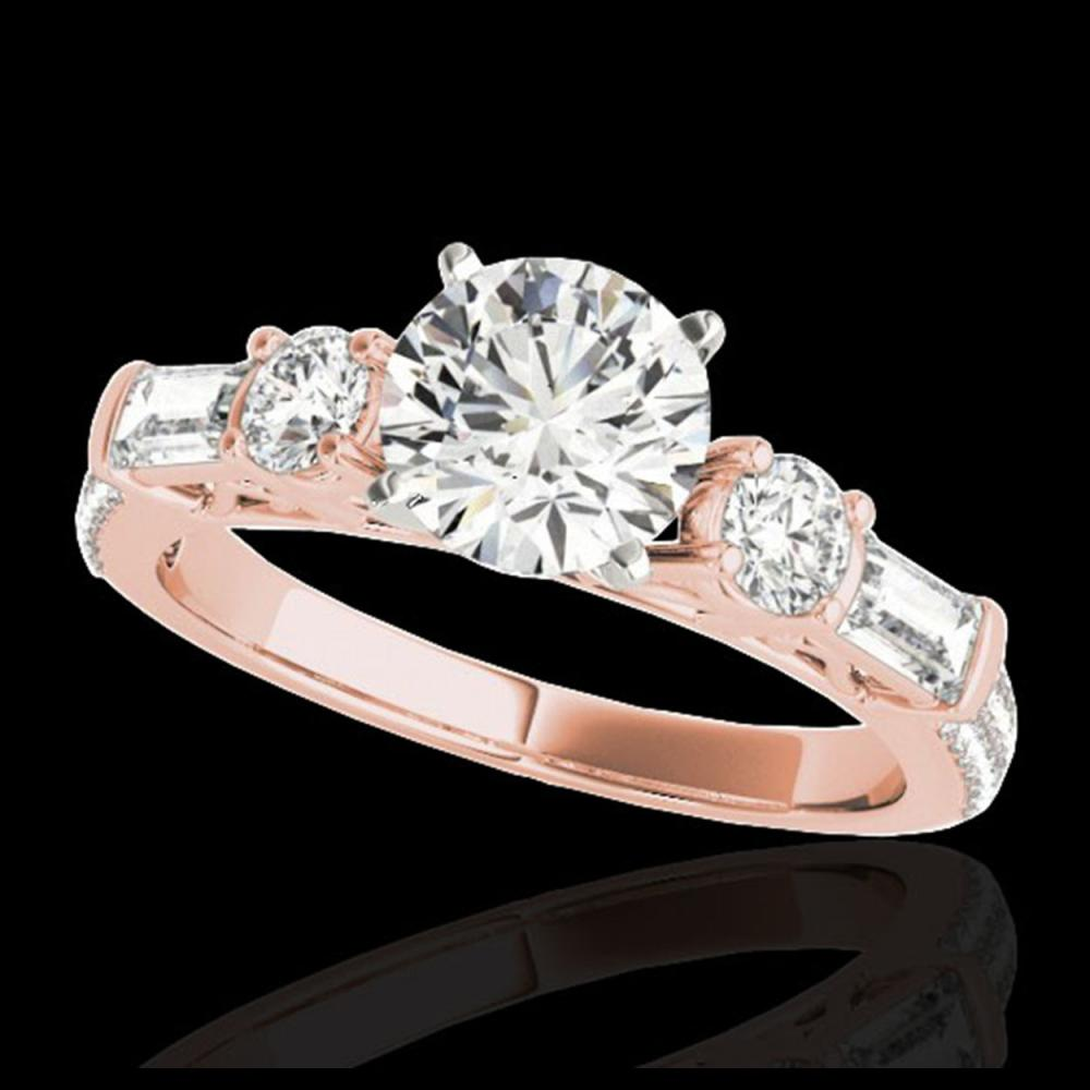 2 ctw H-SI/I Diamond Solitaire Ring 10K Rose Gold - REF-166W4H - SKU:35472