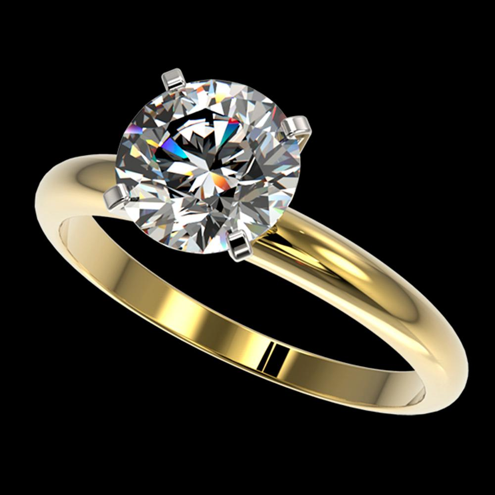 2 ctw Certified Quality Diamond Engagment Ring 10k Yellow Gold - REF-407H8R