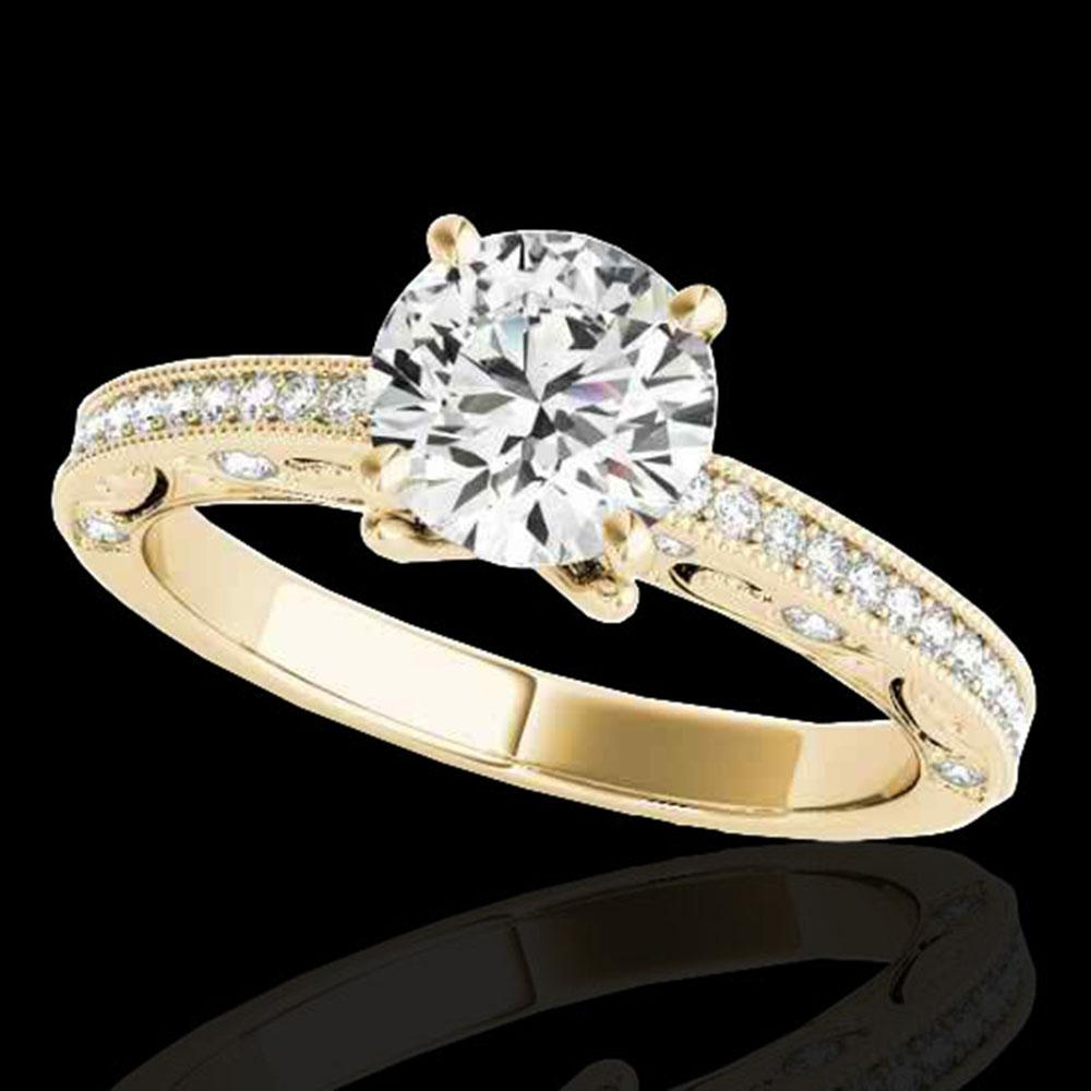 1.25 ctw Certified Diamond Solitaire Antique Ring 10k Yellow Gold - REF-184F3M