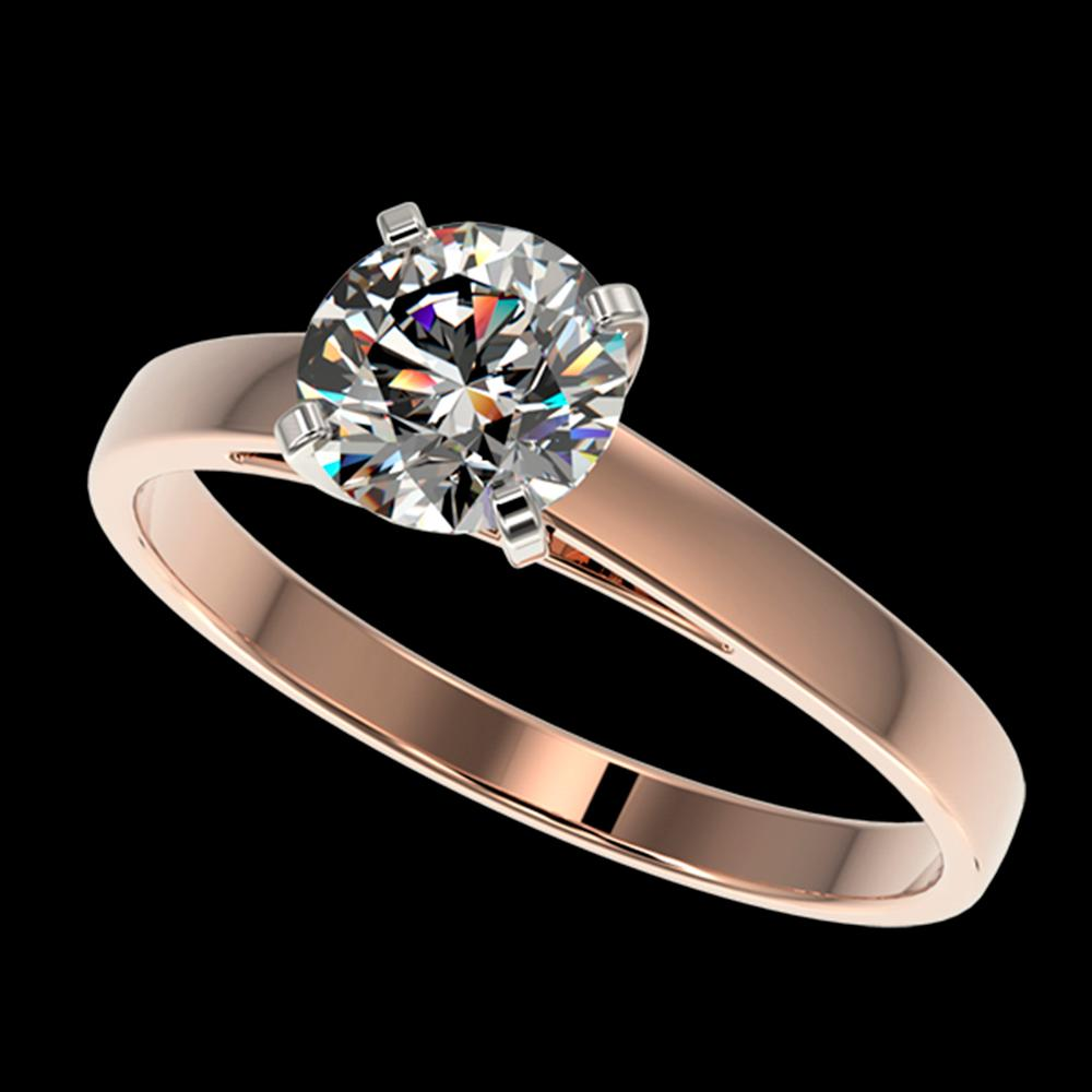 1.05 ctw Certified Quality Diamond Engagment Ring 10k Rose Gold - REF-139X2A