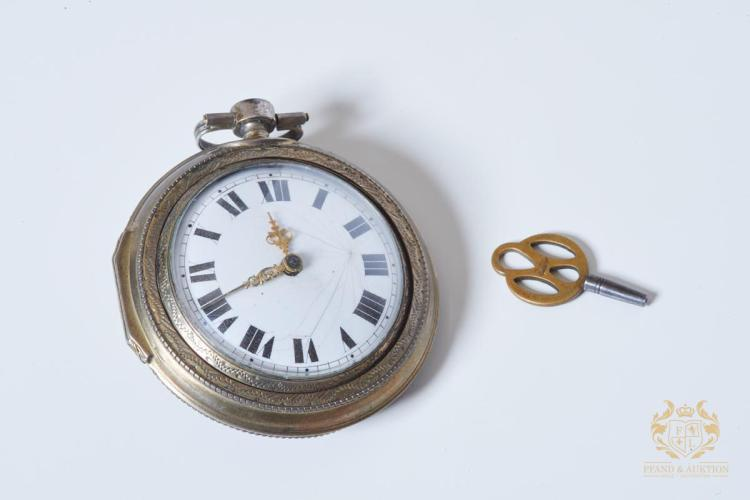 Spindle Pocket Watch England about 1850 with chain