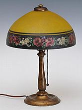 Small Handel Reverse Painted Lamp